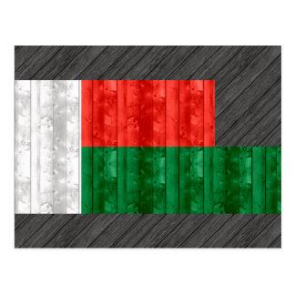 Wooden Malagasy Flag Postcard