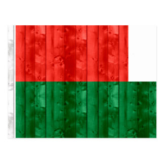 Wooden Malagasy Flag Post Cards