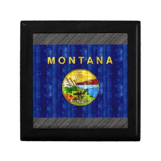 Wooden Montanan Flag Gift Box