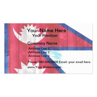 Wooden Nepalese Flag Business Card