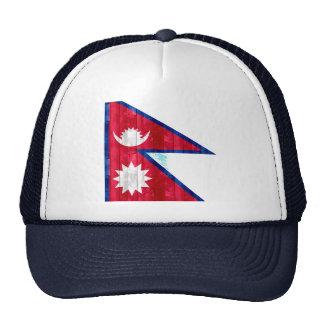 Wooden Nepalese Flag Mesh Hat