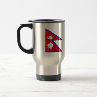 Wooden Nepalese Flag Mug