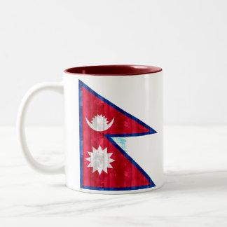 Wooden Nepalese Flag Mugs