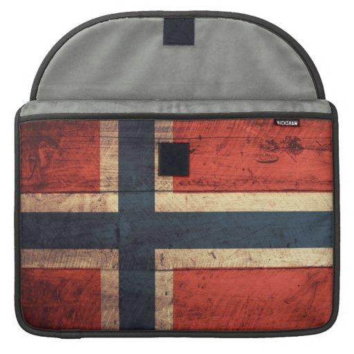 Wooden Norway Flag MacBook Pro Sleeves