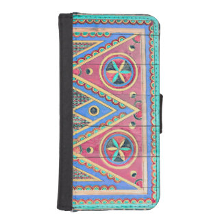 Wooden Painted Antique Tribal Door Wallet Case