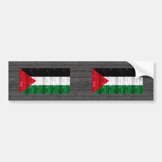Wooden Palestinian Flag Bumper Sticker
