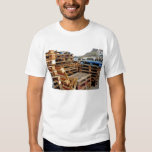 Wooden Pallets on the Dock Adult Tee Shirt White