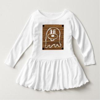Wooden Panel 鬼 鬼 Toddler Ruffle Dress 2