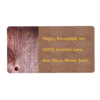 Wooden Panel Shipping Label