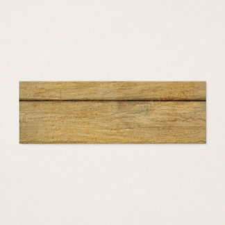 Wooden Panel Texture Mini Business Card