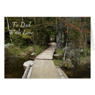 Wooden Path Card