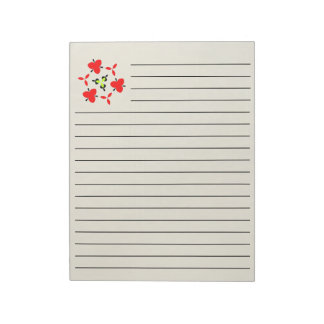 Wooden pattern notepad