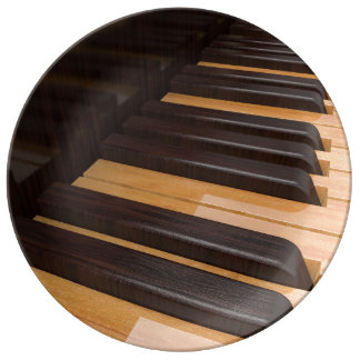 Wooden Piano Keys Plate