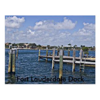 Wooden Pier , Fort Lauderdale Dock Postcard
