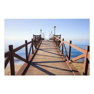 Wooden Pier on Mediterranean Sea Photo Print