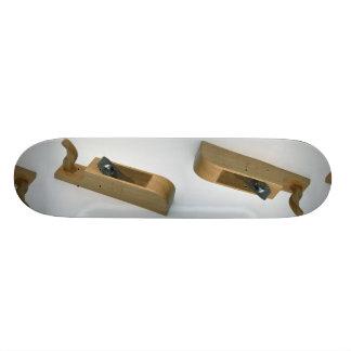 Wooden plane skate board decks