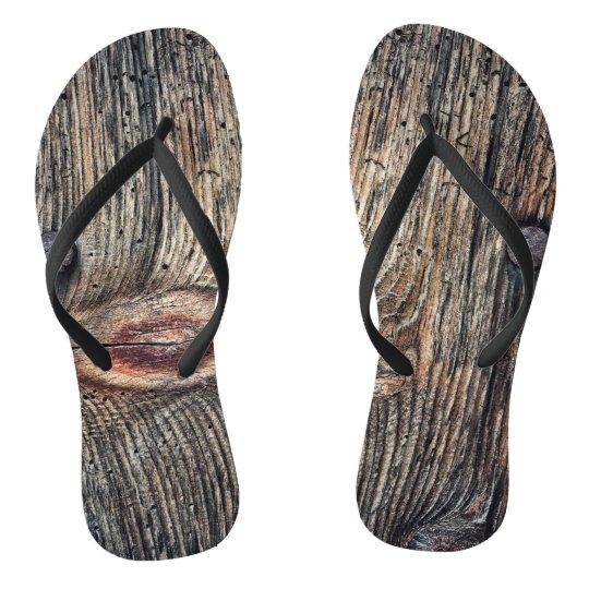 Wooden Plank Flip Flops