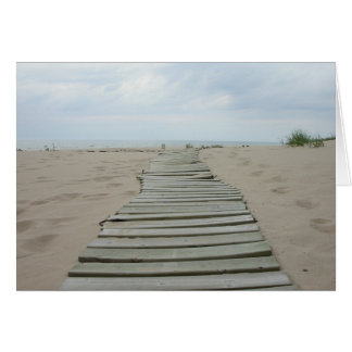 Wooden Plank Path Greeting Card