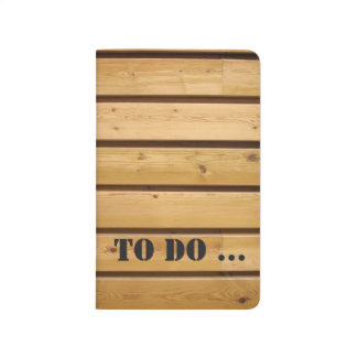 Wooden Plank To Do List - Pocket Journal