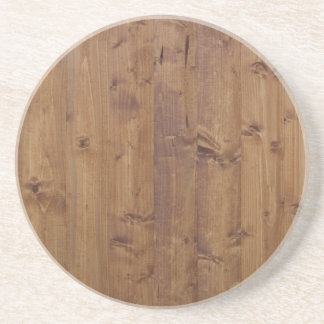 Wooden Planks, Barks, Boards, Barn Wall - Brown Coaster