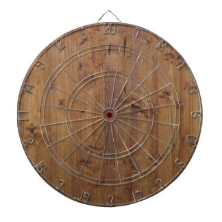 Wooden Planks, Barks, Boards, Barn Wall - Brown Dart Board