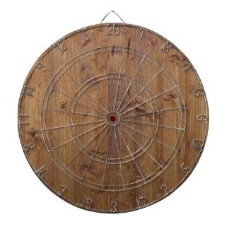 Wooden Planks, Barks, Boards, Barn Wall - Brown Dartboard