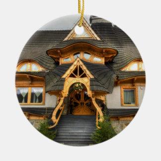 Wooden Polish House In Zakopane Christmas Ornament