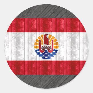 Wooden Polynesian Flag Stickers