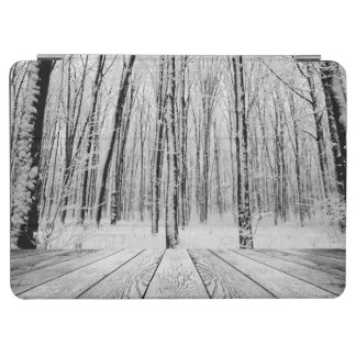 Wooden Porch and Snowy Forest iPad Air Cover