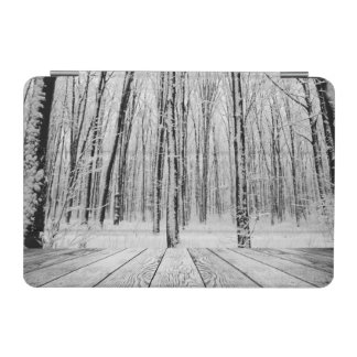 Wooden Porch and Snowy Forest iPad Mini Cover