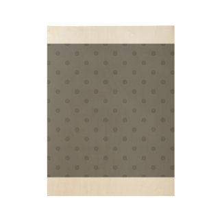 Wooden poster with dark Dots