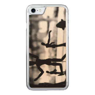 Wooden Puppet BW Carved iPhone 7 Case