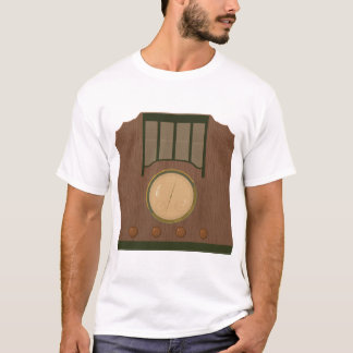 Wooden Retro Radio Mens T-Shirt