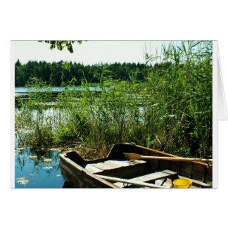 Wooden Rowing Boat Card