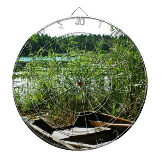 Wooden Rowing Boat Dartboard