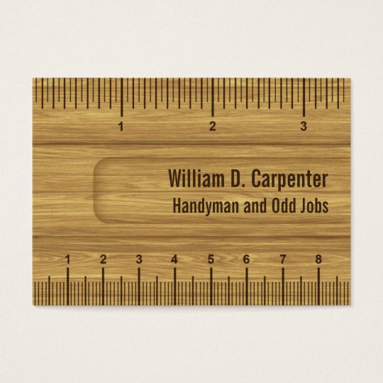 Wooden ruler or rule builder or carpenter business card zazzle wooden ruler or rule builder or carpenter business card reheart Choice Image