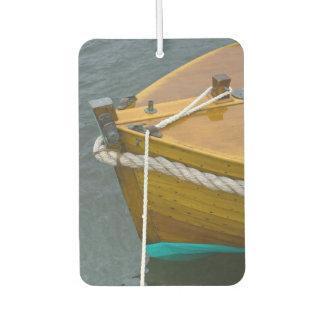 Wooden Sailboat In Water Car Air Freshener