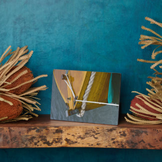 Wooden Sailboat In Water Plaque