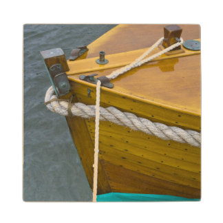 Wooden Sailboat In Water Wood Coaster
