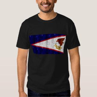 Wooden Samoan Flag Shirts