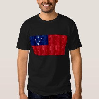 Wooden Samoan Flag T-shirt