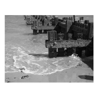 """Wooden Sea Defences"" Postcard"