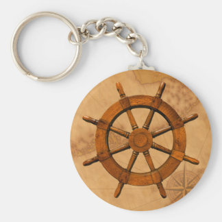Wooden Ship Wheel Keychains