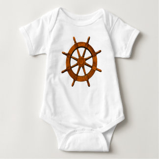 Wooden Ships Helm Baby Bodysuit