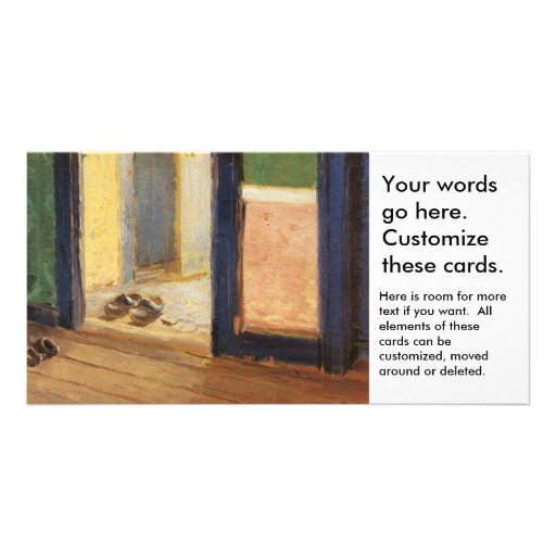 Wooden shoes Dutch art by impressionist Ancher Customized Photo Card