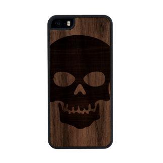 Wooden Skull Carved® Walnut iPhone 5 Slim Case