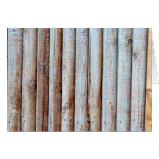 Wooden Slatted Fence Greeting Cards
