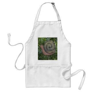 wooden snail in the garden standard apron