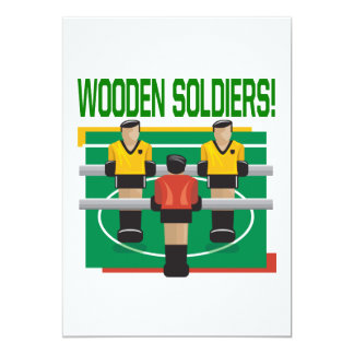 Wooden Soldiers 13 Cm X 18 Cm Invitation Card