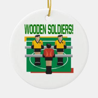 Wooden Soldiers Round Ceramic Decoration